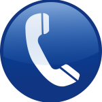 blue, icon, telephone